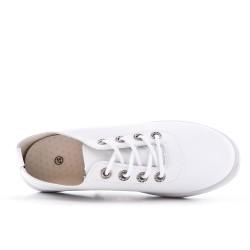 Tennis blanche à lacet