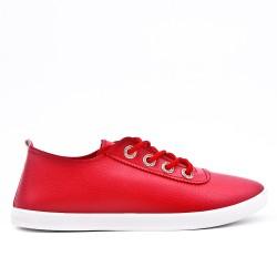 Tenis de encaje rojo