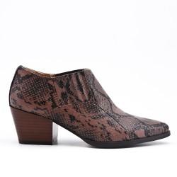 Chaussure serpent à petit talon