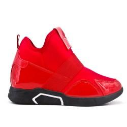 Basket montante rouge