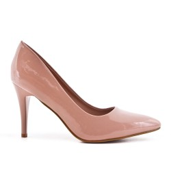 Pink patent leather heels