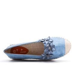 Espadrille bleu à fleurs