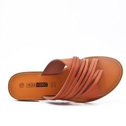 Camel flat slat imitation leather