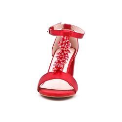 Pearl red sandal