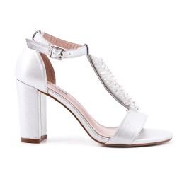 Pearl silver sandal