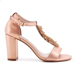 Pearl champagne sandal