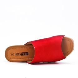 Red slipper with big heel