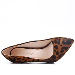 High Heel Leopard Print Pump