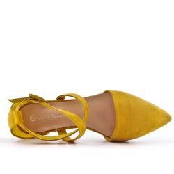 Ballerine jaune à boucle