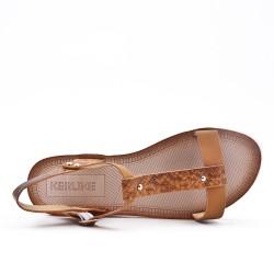 Sandale camel à semelle confort