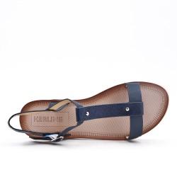 Sandale bleu à semelle confort