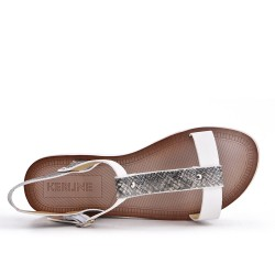 Sandale blanche à semelle confort