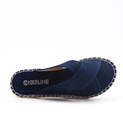 Blue sneaker with espadrille sole