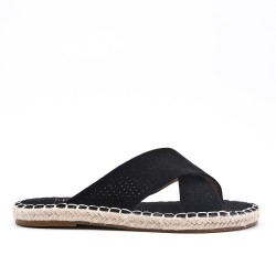 Black sneaker with espadrille sole