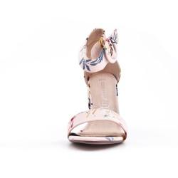 Sandale imprimée fleurie à boucle