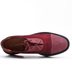 Richelieu red wine bi-material lace
