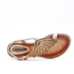 Sandale dorée orné de strass