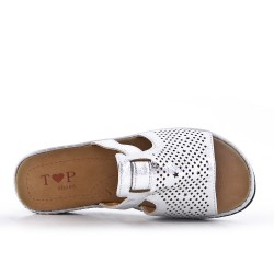 Silver perforated slat with comfort sole