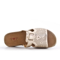 Golden perforated slat with comfort sole
