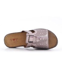 Gray perforated slat with comfort sole