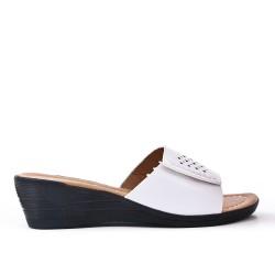 White imitation leather slate