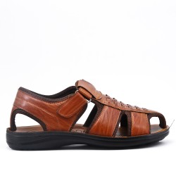 Camel man sandal in faux leather