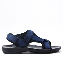 Blue men's sandal with bridles