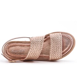 Champagne sandal with comfort sole