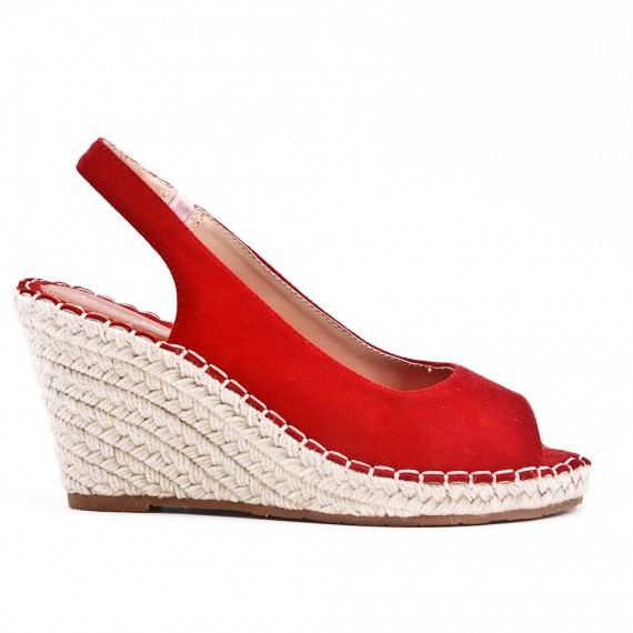 best sale discount sale free shipping Red Wedge sandal with espadrille sole