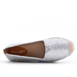 Silver imitation leather espadrille