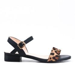 Sandale imprimé léopard