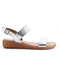 Sandale argent à semelle confort