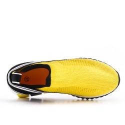 Basket en toile jaune à enfiler