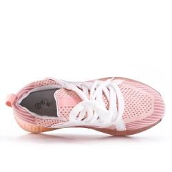 Basket en toile rose à lacet