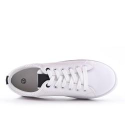 Disponible en 6 colores -Tennis blanche à lacet