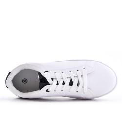 Disponible en 8 couleurs -Tennis blanche à lacet