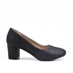 Black pump with rhinestones for girls