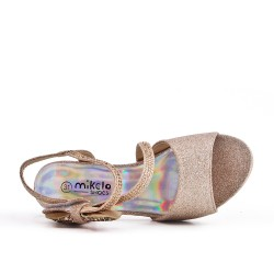 Golden knotted sandal for girls