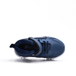 Blue kid's sneaker with lace