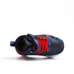Zapatilla de deporte negra para niños con encaje