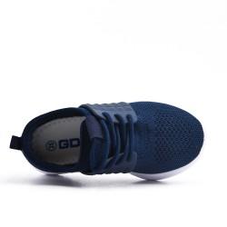 Zapatilla de deporte blue para niños con encaje