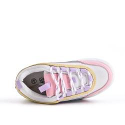 Basket multicolore à lacet pour fille