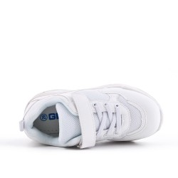 Basket enfant blanche à lacet