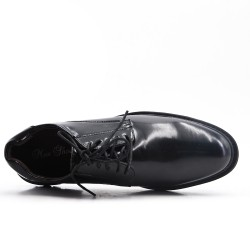Cordón de imitación de cuero negro derby