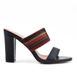 32816e05b36f Black mule sandal with heel ...