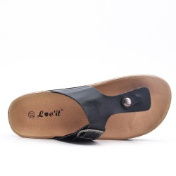 Available in 14 color -Tong faux leather buckle