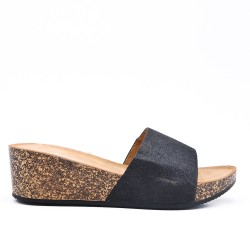 Available in 5 colors - Glitter Mule with Wedge Sole
