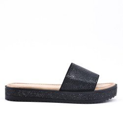 Black slate decorated with rhinestones