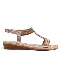 Sandalia de oro con pedreria