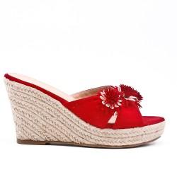 Wedge sandal with wedge heel